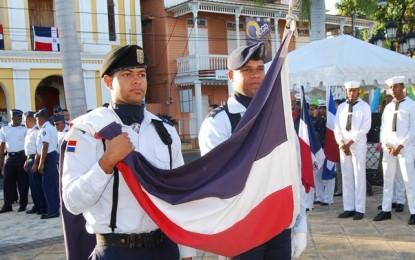CONMEMORAN DÍA DE LA BANDERA DOMINICANA EN PUERTO PLATA.
