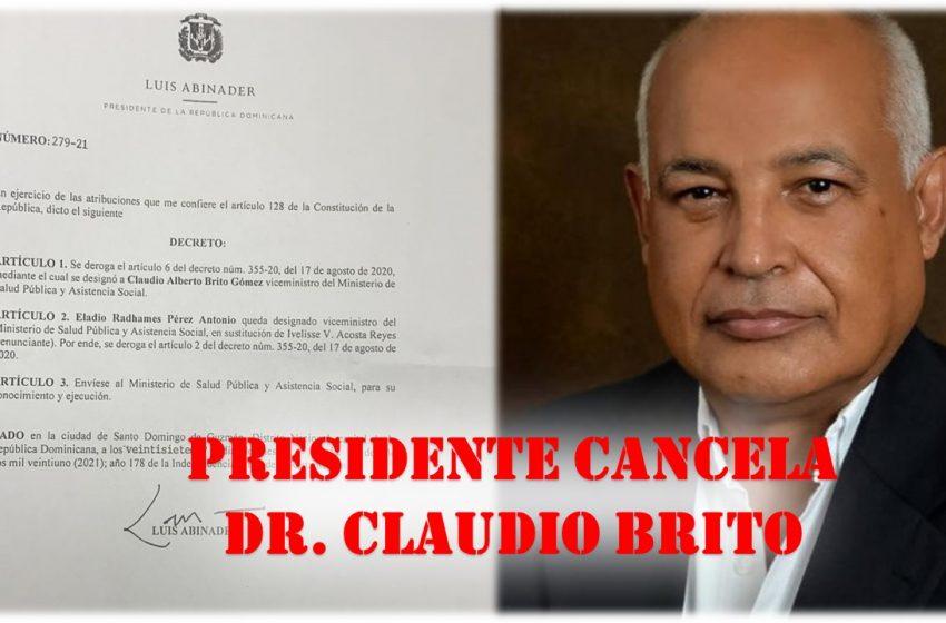 CANCELACIÓN CLAUDIO BRITO CAE COMO BALDE DE AGUA FRÍA EN PRM P.P.