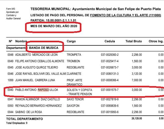 PASADA GESTIÓN MUNICIPAL INICIÓ TRÁMITES PENSIÓN PABLO RAPOSO Y NO LA ACTUAL COMO DIJO JURÍDICO.